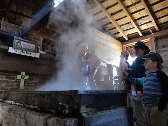 Sugar pan used to make maple syrup in Tim Duff's sugar house on Fair Lawn Farm in Monterey on Thursday, March 9, 2017.