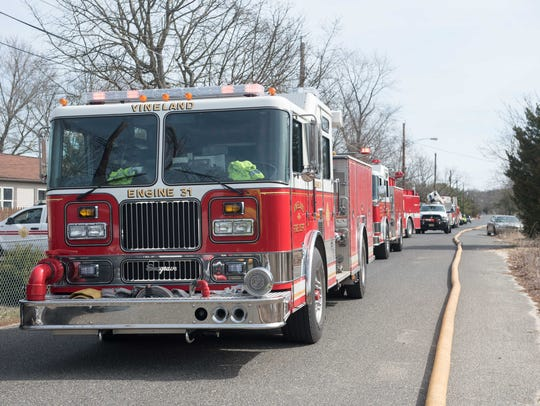 Vineland Fire responded to a working fire on the 2200