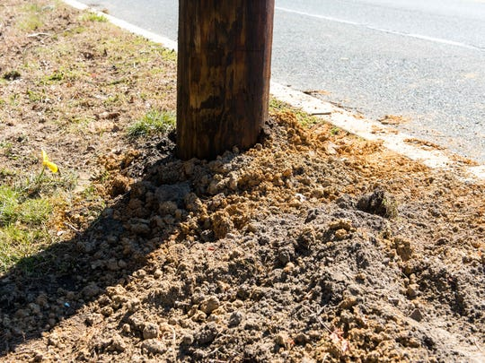 A new telephone pole was erected in the area of West