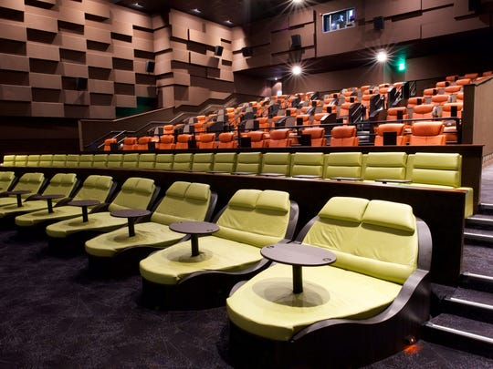 The Pod seating in iPic theaters allows for dining