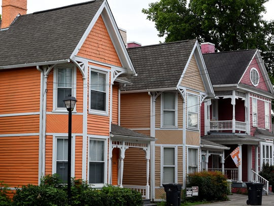 The Victorian-era homes on 11th St used in the 1982