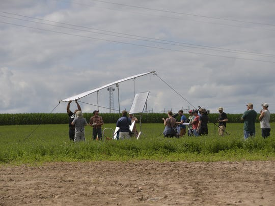 Ron Miller's Enchanted Dairy farm in Little Falls was taken over Sunday by Land O'Lakes' video production crew.