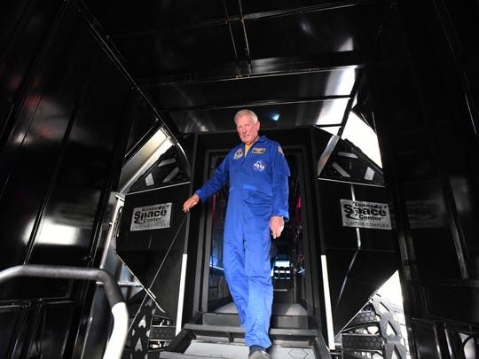 """McBride, who served on the Challenger and Columbia space shuttles, said NASA is taking the concept vehicle on tour to inspire the next generation of space explorers. """"We're trying to get the word out, """" he said. """"We want to instill passion in young people to do what I got to do."""""""