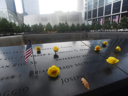 The Memorial for the victims of 9/11 at Ground Zero.