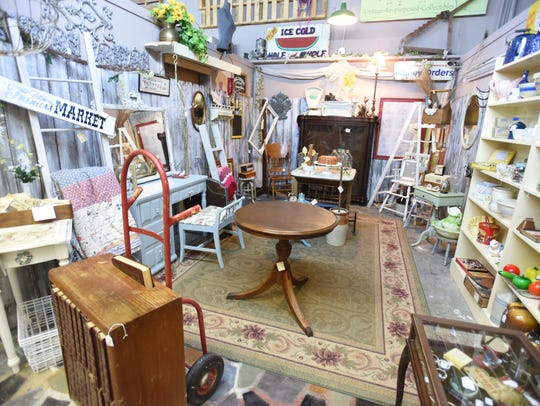 Inside the Antique Shoppes at 1100 Barksdale in downtown