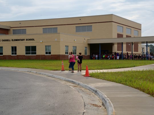 A look at the new Cassell Elementary School. Pictured