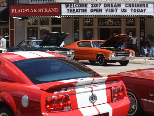 The Flagstar Strand Theater in Pontiac welcomes the welcomes the Woodward Dream Cruise on Saturday August 19, 2017.