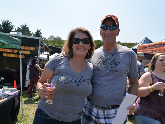 Husband and wife Greg and Dawna Lampert at the third annual Virginia Food Truck Battle at the Frontier Culture Museum on Sunday, Sept. 3, 2017.