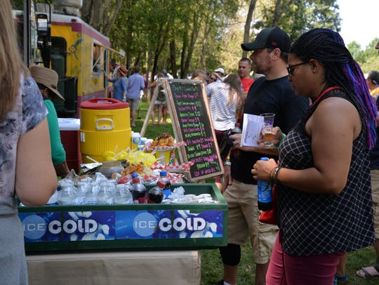 Attendees of the third annual Virginia Food Truck Battle