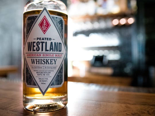 Westland Peated American Single Malt Whiskey. From