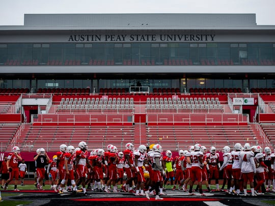 Austin Peay practices for its upcoming game against