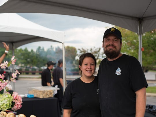 Eric and Nicole Ford of Goodness Gracious at the Mill at Murfreesboro Magazine's inaugural Battle of the Burger, held Thursday, Sept. 14, 2017 at The Avenue Murfreesboro.
