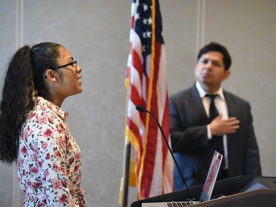 Attendees of the 2017 Hispanic Heritage Month Kickoff at Belmont University in Nashville, Tenn., September 15, 2017.