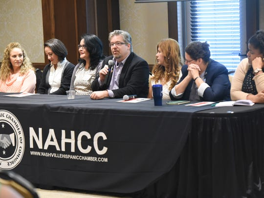 Panelists at the 2017 Hispanic Heritage Month Kickoff at Belmont University in Nashville, Tenn., September 15, 2017.