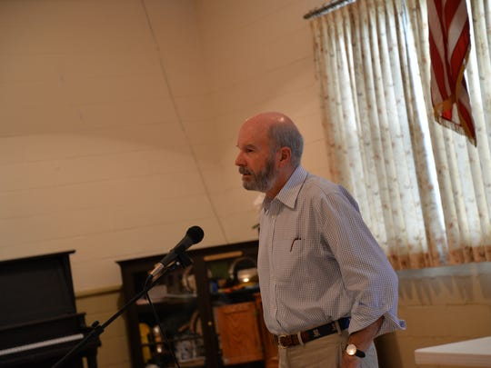 Stanley Bright, chairman of the board for the Middlebrook Investors LLC holds an annual meeting Sunday, Sept. 17, 2017 to talk options of the Middlebrook General Store.