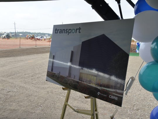 A groundbreaking was held Tuesday at the Transport