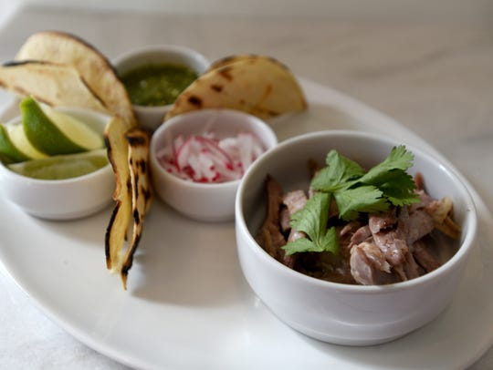 Pulled duck tacos from White Maple Cafe in Ridgewood.