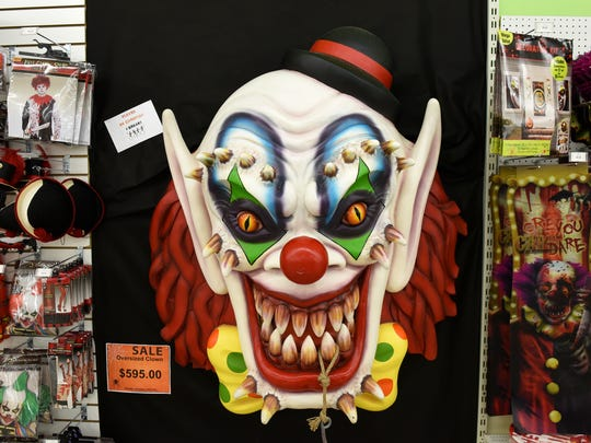 Clowns are always a big hit at Halloween Corner Costumes & Accessories, Washington Market shopping center, 5308 Washington Pike Tuesday, Oct. 3, 2017.
