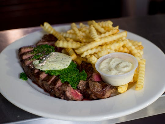 Steak and frites at Bistec Brasserie in York. Bistec