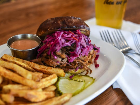 Atlas BBQ's biggest seller is its pulled pork sandwich.