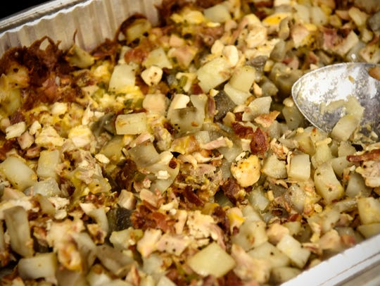 Loaded Baked-Potato Hotdish is served during the BrewLash