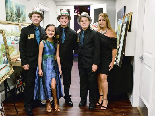 Founders of Elev8Hope, from left, Trevor, Myah, Devon, Mitchell and Rina Shpiruk at the recent Casino Night.