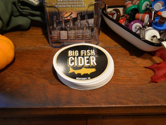 The tasting room of Monterey's Big Fish Cider Co. Monterey native Kirk Billingsley opened the hard cider company nearly two years ago.