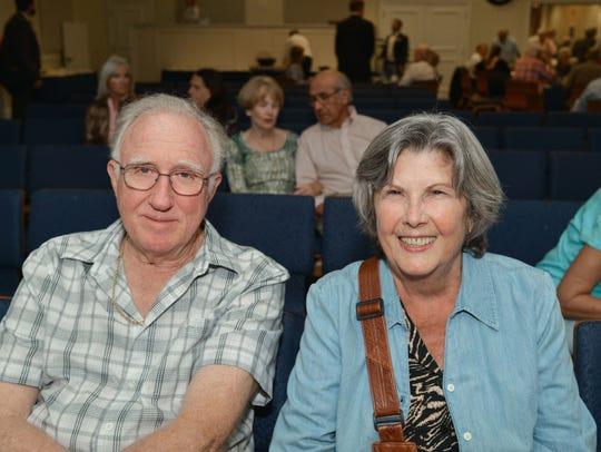 Joe and Carla Hardy settle in to watch the screening