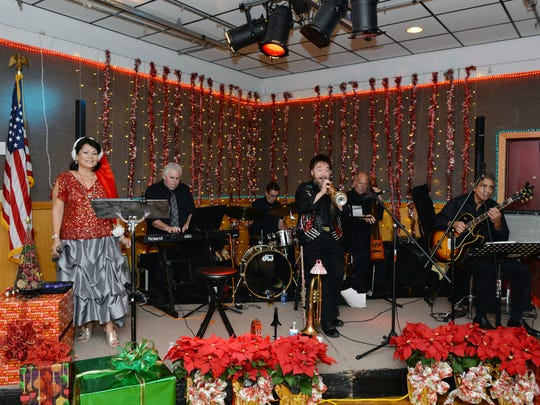 Mia Batalini & The Jazzy Boys Jazz perform  jazz and holiday favorites on stage Dec. 2 at the Fort Pierce Elks Lodge No. 1520, all to benefit the VIM/HANDS Clinic of St. Lucie County.