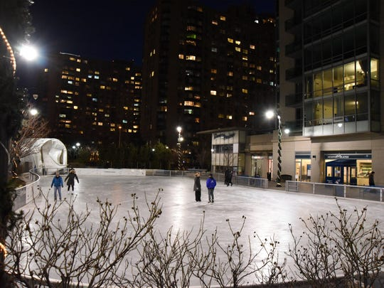 Newport Skates outdoor ice skating rink in Jersey City
