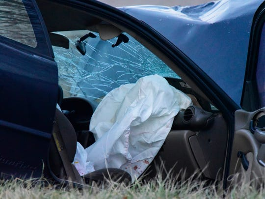 Driver airbags deployed in both vehicles involved in the crash at Ohio 412 and County Road 198.