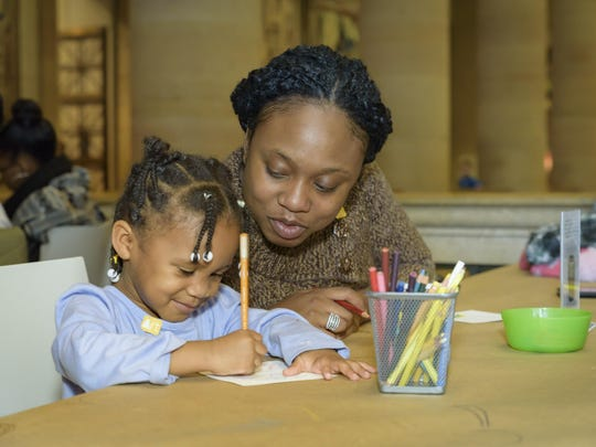 Families can visit the Philadelphia Museum of Art during winter break, where artists of all ages can grab some color pencils and create their own cards.