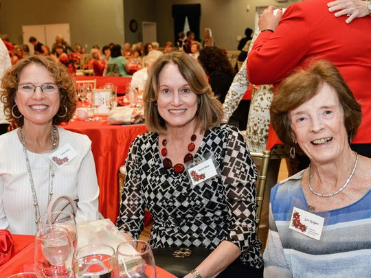 Tammy Rudy, left, Marty Blazie and Gert Rodgers at