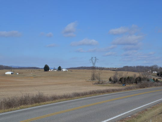 The field next to Ryan Blosser's home outside of Churchville,