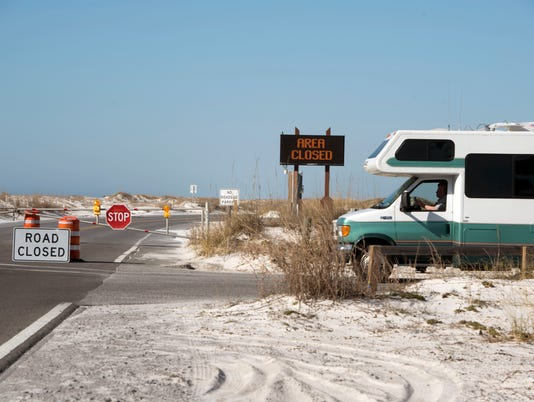 Fort Pickens Closed 1