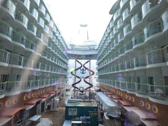 The Boardwalk amusement area on Symphony of the Seas