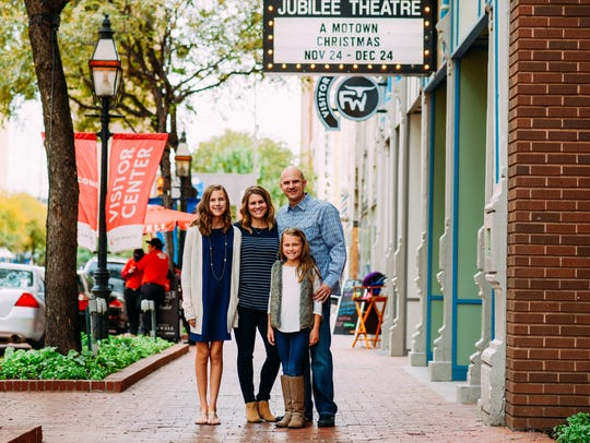 Marilee Belote, second from left, with her daughters