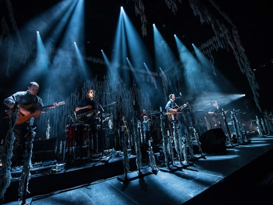 Bon Iver performs in Milwaukee in February 2018. The critically-acclaimed singer-songwriter (aka Justin Vernon) is scheduled play March 29 at the Playhouse Square' State Theatre.
