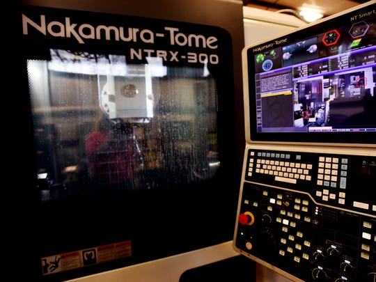 The Nakamura-Tome machine at the Inferno Manufacturing Company.