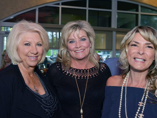 Marilyn May, left, Melanie Carr and Gabby Rothman at