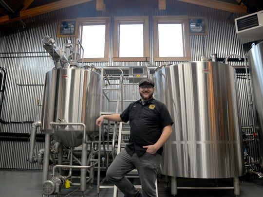 Head distiller Matt Casto at Devil Backbone's Distilling Company at Basecamp in Roseland.