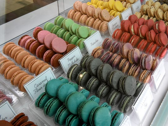 Macarons at the new Woops! kiosk in West Town Mall