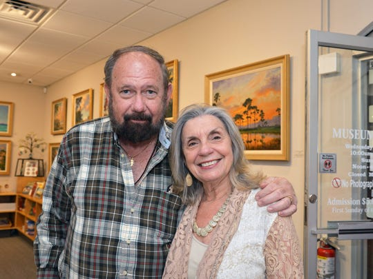 Exhibition Sponsors Mike and Janie Hinkle, of Jiffy