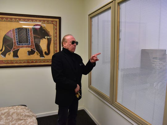 Gary A. Sciarrino, general manager/superintendent of the East Ridgelawn Cemetery in Clifton, NJ, poses for a photo in the crematory's viewing room.