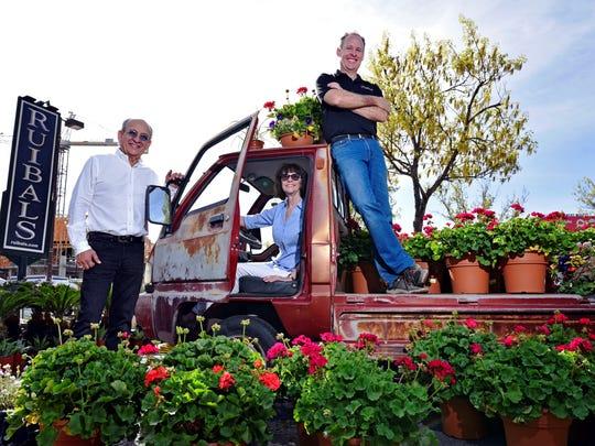 Michael Ruibal, Linda Ruibal and Mark Ruibal, of Ruibal's