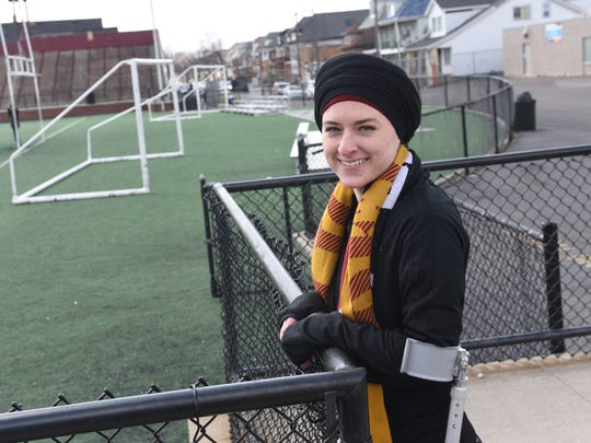 Amanda Jaczkowski stands at Keyworth Stadium this month.