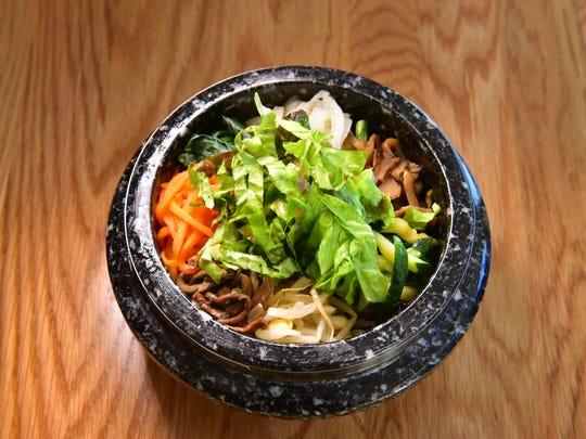 Small dolsot Bibimbap at Gayeon Restaurant in Fort