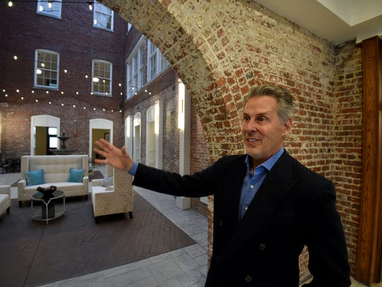 Developer Rick Dover gives a tour of the Knoxville