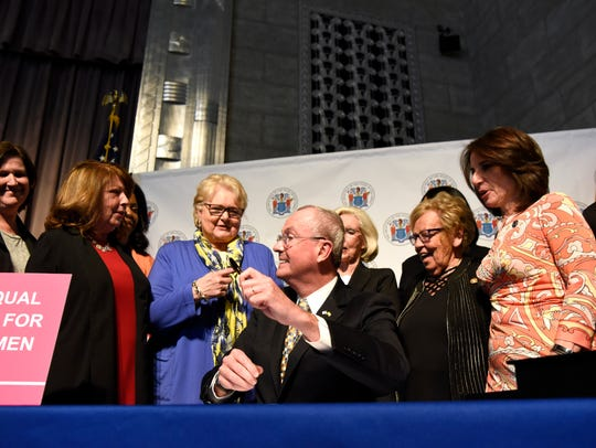 Governor Phil Murphy signs the Diane B. Allen Equal