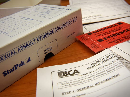 The contents of a sample sexual assault evidence kit